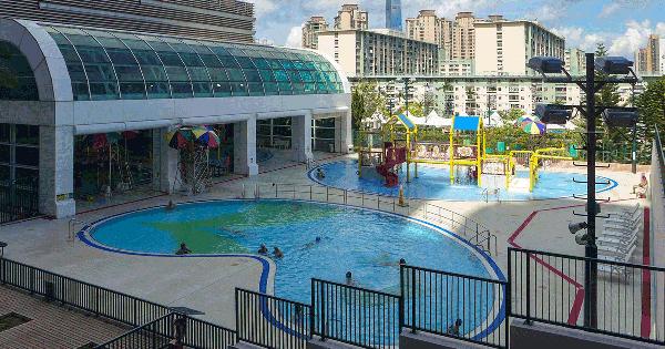 何文田游泳池室外環境,卓越游泳會游泳班上課地點。