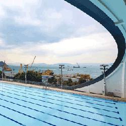 堅尼地城游泳池--戶外池,,卓越游泳會游泳班上課時的地點