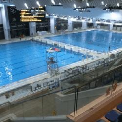 觀塘游泳池室內設施-主池、訓練池及觀眾看台