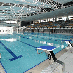 中山紀念公園游泳池-主池跳台,卓越游泳會游泳班上課時的地點