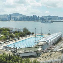 大環山游泳池鳥瞰圖,卓越游泳會游泳班上課時的地點